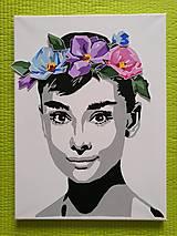Obrazy - 3D kvetovana Audrey - 10945624_
