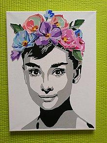 Obrazy - 3D kvetovana Audrey - 10945627_