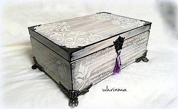 Krabičky - MAXI šperkovnica PÍSMO - 10943847_