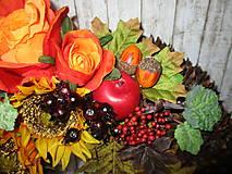 Dekorácie - Jesenný veniec - 10945629_