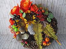Dekorácie - Jesenný veniec - 10945632_