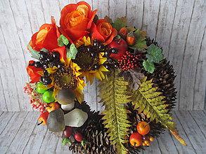 Dekorácie - Jesenný veniec - 10945631_