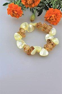 Náramky - perleť a citrín náramok - 10945249_