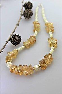 Náhrdelníky - perleť a citrín náhrdelník - 10945300_