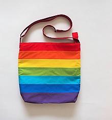 Veľké tašky - Dúhová taška cez plece so zipsom na objednávku - 10944059_