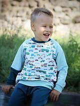 Detské oblečenie - Mikina s dopravnými prostriedkami - 10945756_