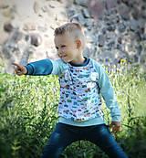 Detské oblečenie - Mikina s dopravnými prostriedkami - 10945757_