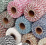 Galantéria - MO101 Motúzik farebný bavlnený 2 mm - 10945214_