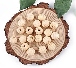 Korálky - KD167 Korálka drevená melónik 1,6 cm - 10944019_