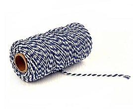 Galantéria - MO101 Motúzik farebný bavlnený 2 mm (Modrá) - 10945211_