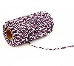 Galantéria - MO101 Motúzik farebný bavlnený 2 mm (Fialová) - 10945212_