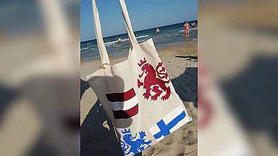 Nákupné tašky - ♥ Plátená, ručne maľovaná taška ♥ - 10944110_