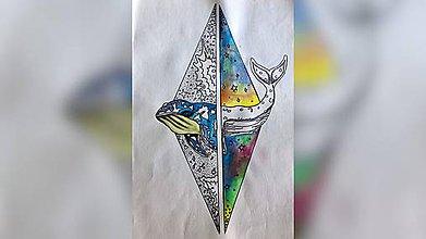 Iné tašky - ♥ Plátená, ručne maľovaná taška ♥ - 10945037_
