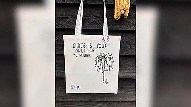 Iné tašky - ♥ Plátená, ručne maľovaná taška ♥ - 10945225_