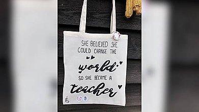 Iné tašky - ♥ Plátená, ručne maľovaná taška ♥ - 10945355_