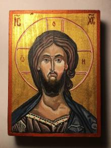 Obrazy - Ručne písaná ikona Ježiša Krista 2 - 10945543_