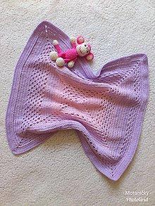 Textil - Háčkovaná detská deka - 10944257_