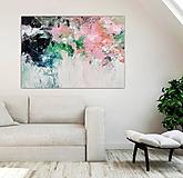 Obrazy - abstraktný obraz, Ružová alej, 130x90 - 10945354_