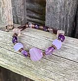 Ametystový fialový náramok