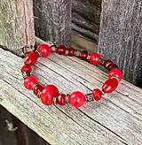 Náramky - Červeno-ružový jadeit - náramok - 10945574_