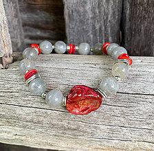 Náramky - Labradorit a perleť - náramok - 10945263_