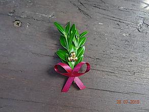 Pierka - Krušpánové pierko zlaté guličky - 10945513_
