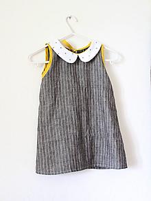 """Detské oblečenie - """"Malé čiernobiele"""" ľanové detské - 10945257_"""