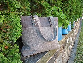 Veľké tašky - sivo-sivá belka - 10944231_