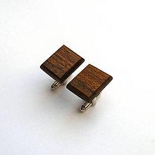 Šperky - Drevené manžetové gombíky - ovangkol štvoruholníky - 10944722_