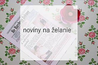 Darčeky pre svadobčanov - Svadobné noviny na želanie - 10946819_