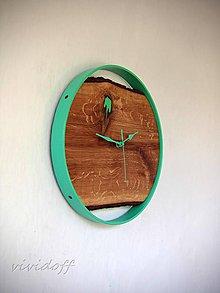 Hodiny - hodiny nástenné dubovo-kovové5 - 10946097_