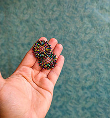 Náušnice - Melange earrings n.8 - vyšívané náušnice - 10947604_