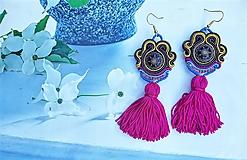 Náušnice - farebné brazílske náušnice - 10947391_