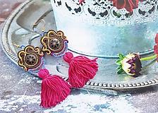 Náušnice - farebné brazílske náušnice - 10947392_