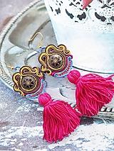 Náušnice - farebné brazílske náušnice - 10947394_