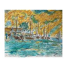 Obrazy - Lode v pristave - 10946237_