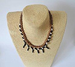 Náhrdelníky - Kožený náhrdelník, šperky v egyptskom štýle | Leather Necklace from Egypt - 10946941_