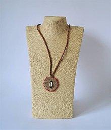 Náhrdelníky - Kožený náhrdelník - 10946979_