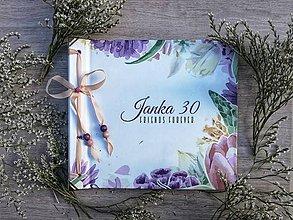 Papiernictvo - Fotoalbum klasický polyetylénový obal s potlačo kvetinového rámčeka - 10945896_