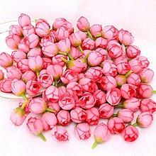 Polotovary - KT103 Púčiky textilné 2 cm  (Tmavo ružové) - 10946029_