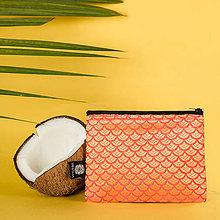 Peňaženky - Zero Waste brokátová peňaženka na zips VINITHA Salmon - 10946481_