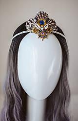 Ozdoby do vlasov - Glitrovaná korunka z mušlí vhodná na festival - 10945863_