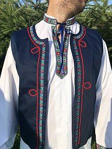 Oblečenie - Pánska folklórna vesta 2 - 10945868_