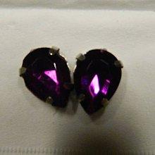 Iný materiál - štrasové kamienky slzy 14x10 sklenené (fialove14x10 slzy) - 10945924_