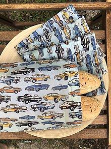 Úžitkový textil - Voskuľkové vrecko - RETRO AUTÁ - 10946550_