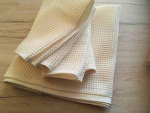 Úžitkový textil - Uterák - ECRU - 10947395_