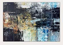 Obrazy - abstraktné obrazy, Posolstvo tmavej noci, 130x90 - 10947103_