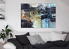 Obrazy - abstraktné obrazy, Posolstvo tmavej noci, 130x90 - 10947110_