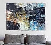 Obrazy - abstraktné obrazy, Posolstvo tmavej noci, 130x90 - 10947115_