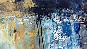 Obrazy - abstraktné obrazy, Posolstvo tmavej noci, 130x90 - 10947147_